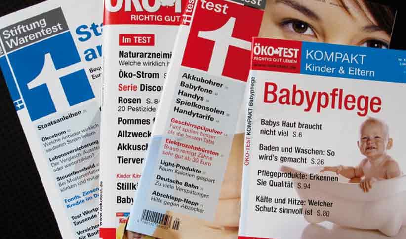Tests in Anlehnung an Verbrauchermagazine